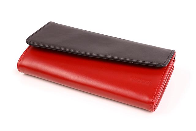 0e3c9c3fd9582 Oryginalny portfel damski skóra PPD2 czerwony - Bagażownia.pl