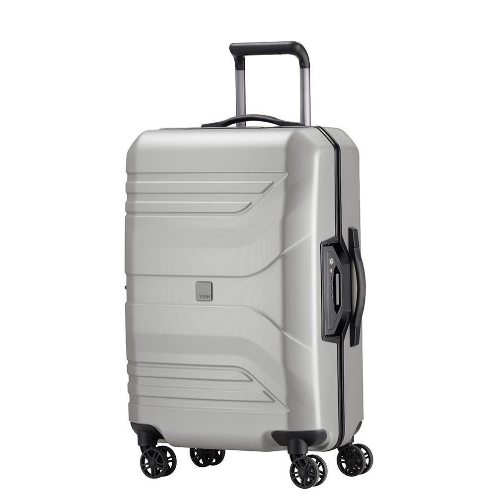 15a553e278d6 Średnia walizka TITAN PRIOR 700505-56 Srebrna - srebrny
