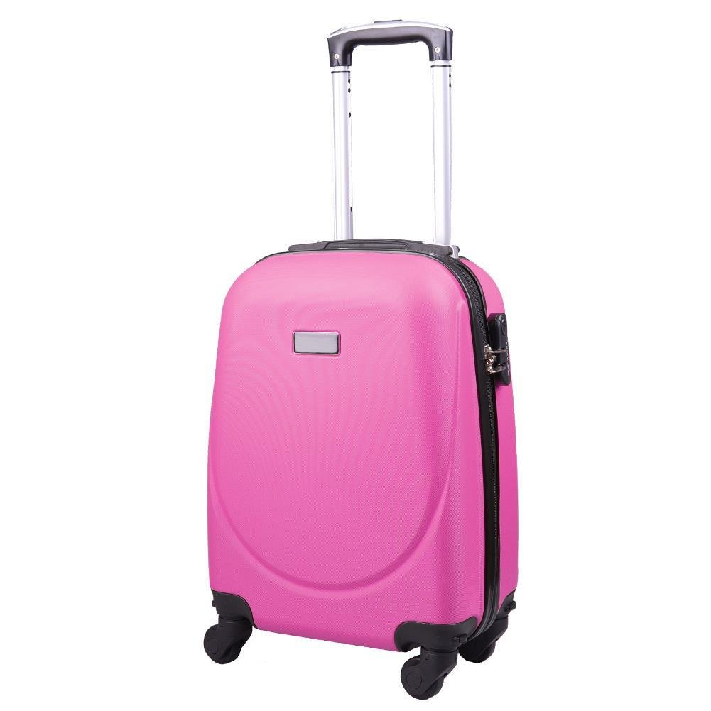 09918afa6da24 ... Bardzo mała kabinowa walizka KEMER 0912 XS WizzAir Różowa ...