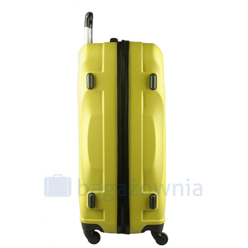 0516af013fcbe Duża walizka KEMER 159 L Żółta - Bagażownia.pl