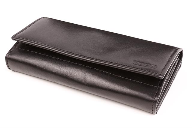 b971ca9916358 Duży skórzany portfel damski VOOC PPD5 Czarny - Bagażownia.pl