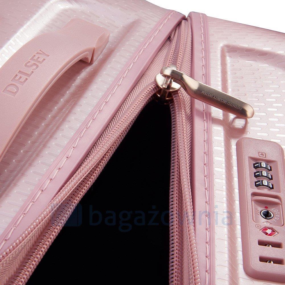 8a4edf95ef61d Mała kabinowa walizka DELSEY Turenne Slim Różowa - Bagażownia.pl