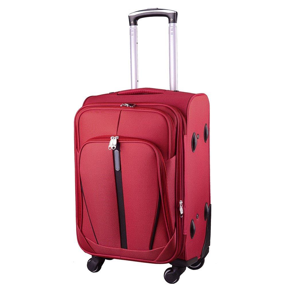 b073ba91e5720 Mała kabinowa walizka KEMER 1706 S Bordowa - Bagażownia.pl