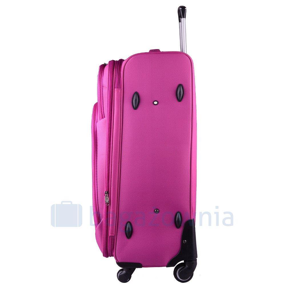 ab54e1a84cee8 Mała kabinowa walizka KEMER 1706 S Różowa - Bagażownia.pl
