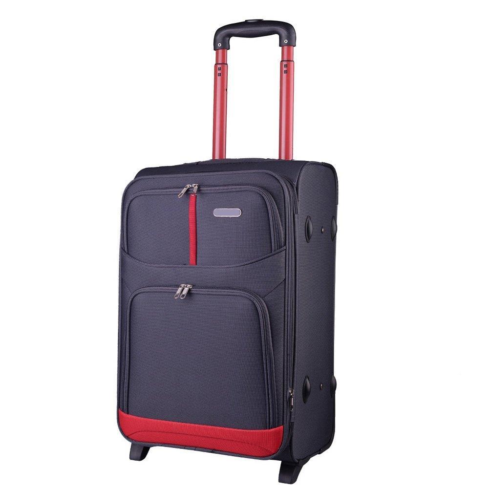 5bc5bd057f8fb Mała kabinowa walizka KEMER 206 S Szara - Bagażownia.pl