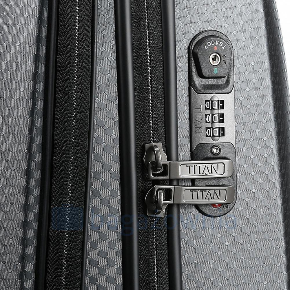 dfd7afaa11f25 ... Mała walizka z miejsce na laptop TITAN XENON DELUXE 816601-60 Brązowa  ...