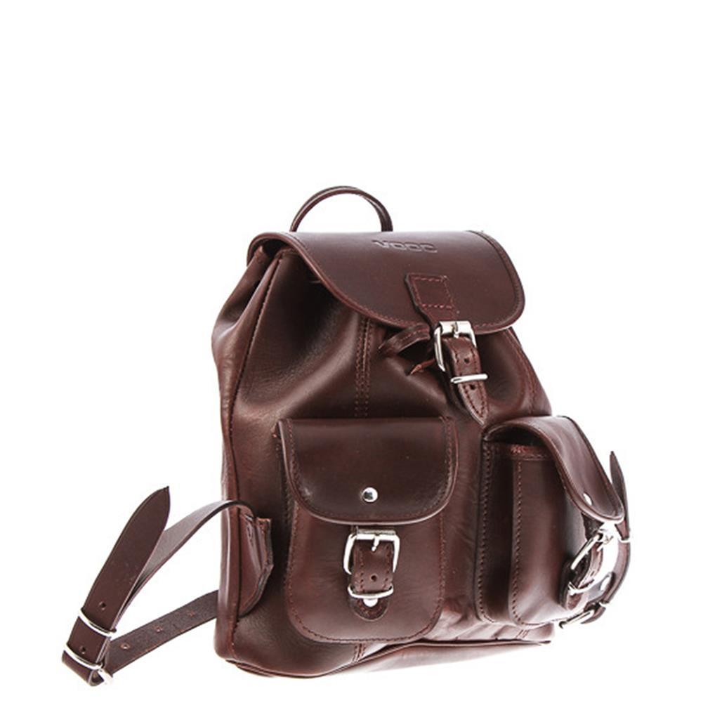 21cd56193b2a7 Mały plecak skórzany VOOC Vintage P2 Brązowy - Bagażownia.pl