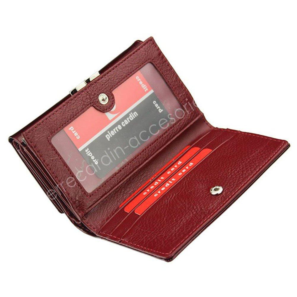 b9e214402c440 ... Portfel damski skórzany PIERRE CARDIN 02 LEAF 108 Czerwony ...