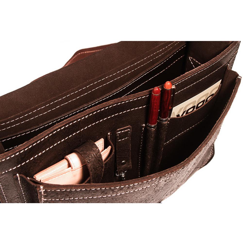 Skórzana torba na ramię teczka KEMER VOOC TC5 brąz
