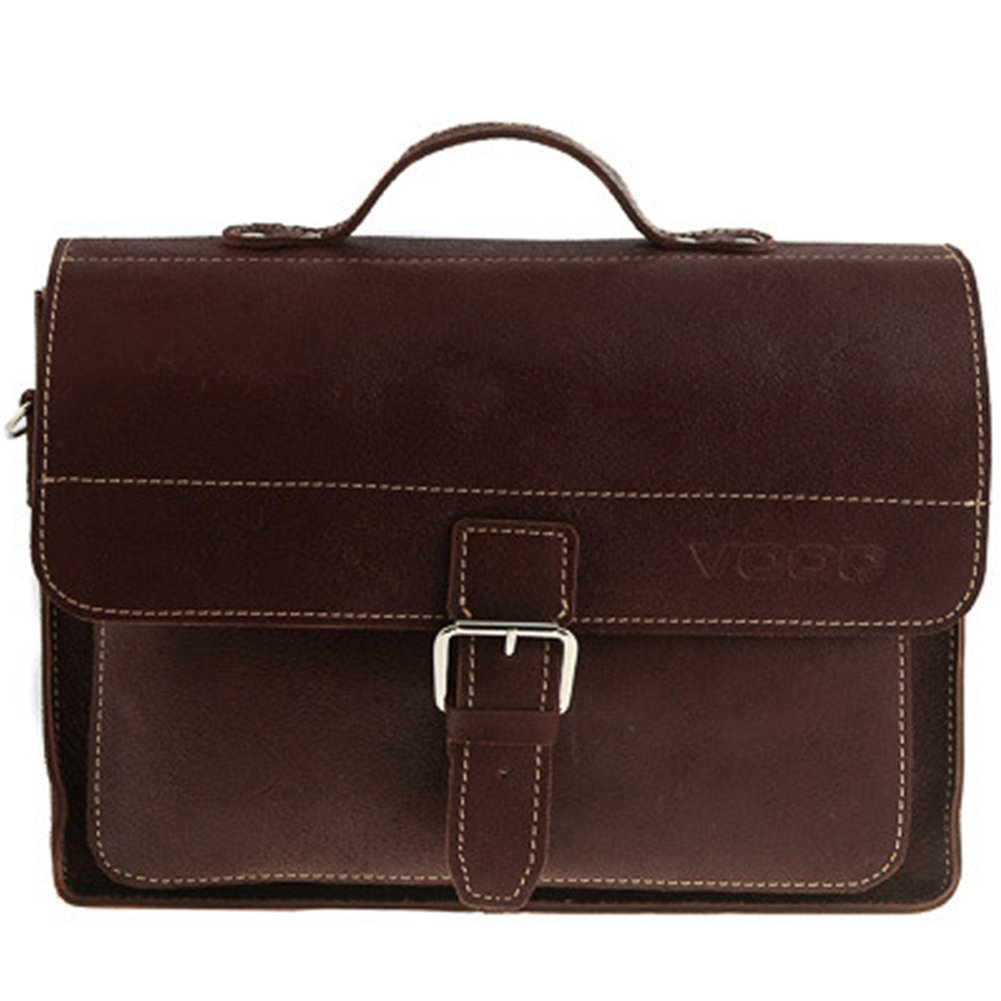 Skórzana torba na ramię teczka KEMER VOOC TC5 czarny