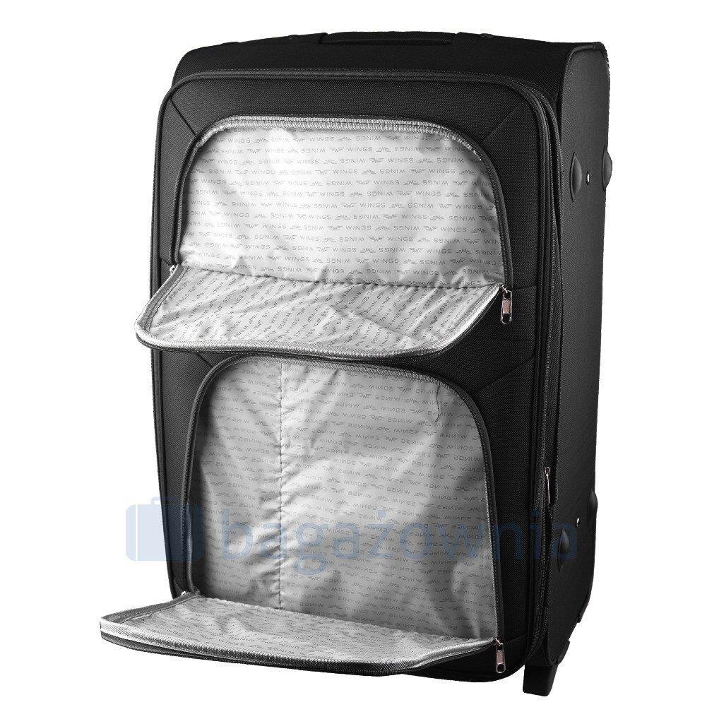 fcf64c35c92ea Średnia walizka KEMER 6802 M Czarna - Bagażownia.pl