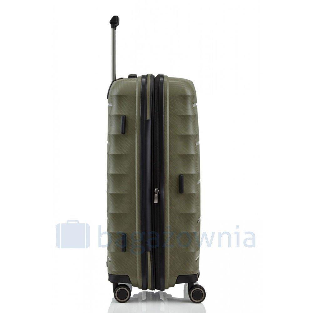 8d30059ded965 Średnia walizka TITAN HIGHLIGHT 842405-86 Zielona - Bagażownia.pl