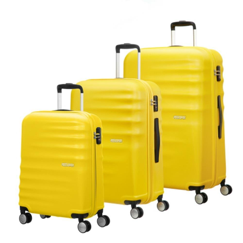 1b8fc5115c28b Zestaw walizek SAMSONITE AT WAVEBREAKER 74137 Żółte - Bagażownia.pl