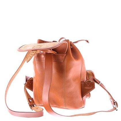 e97173a27d240 Mały plecak skórzany VOOC Vintage P2 Beżowy - Bagażownia.pl